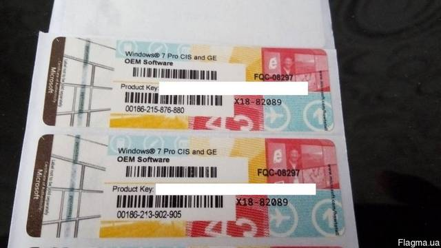 Продам оригинальные наклейки, боксы Windows 7 PRO, 8.1 PRO, 10 PRO