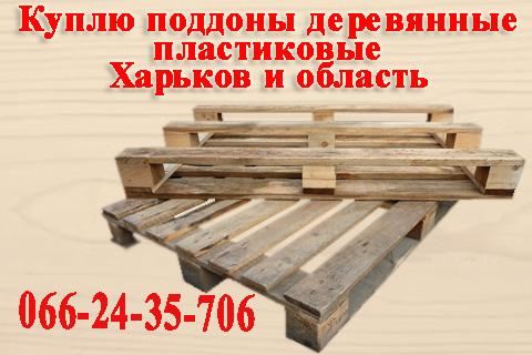 Куплю поддоны деревянные, пластиковые постоянно по Харькову и области.