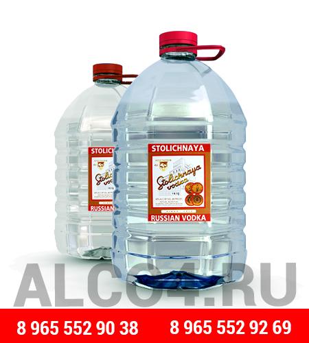 Оптовая и розничная продажа алкоголя в четырех литровых канистрах