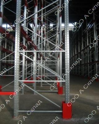 Стойки для складских стеллажей оцинкованные
