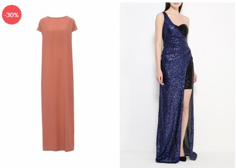 Вечерние платья к Новому году