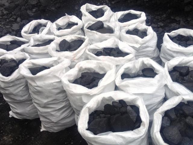 Уголь каменный в мешках 50 кг, уголь для каминов, котлов, печей дпк и дпко