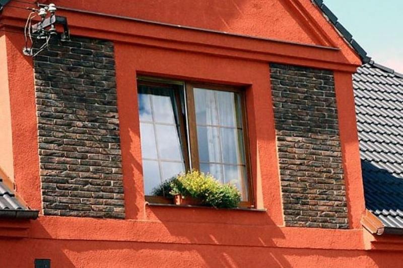 Декоративный бетонный кирпич  Старая Прага для облицовки фасада