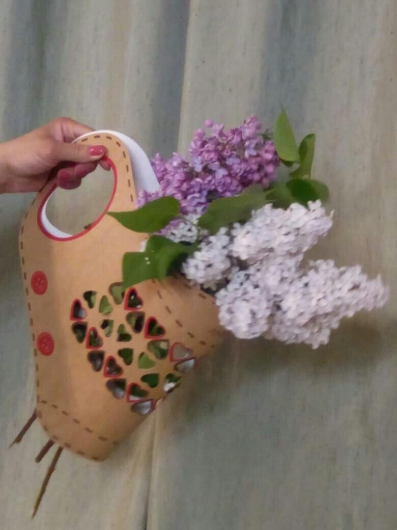Упаковка-портплед для цветов