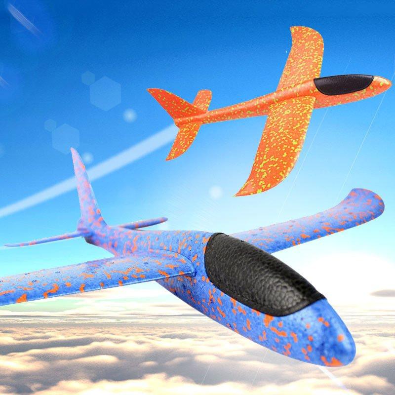 Самолетик планер, самолет метательный из пенопласта 48 см