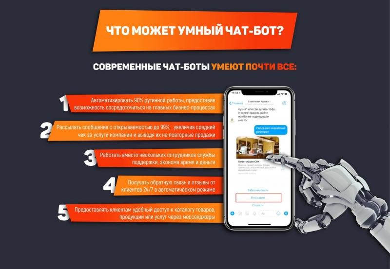 Автоматизация бизнеса. Разработка чат-ботов Вконтакте, Телеграм, Viber, FB