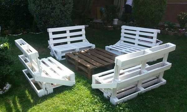 Мебель в сад, беседку, в дом из поддонов